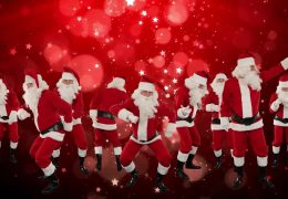 Танцующие Дед Морозы - Санта Клаусы
