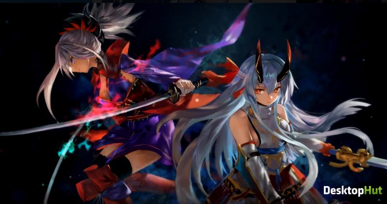 Musashi и Tomoe аниме - живые обои