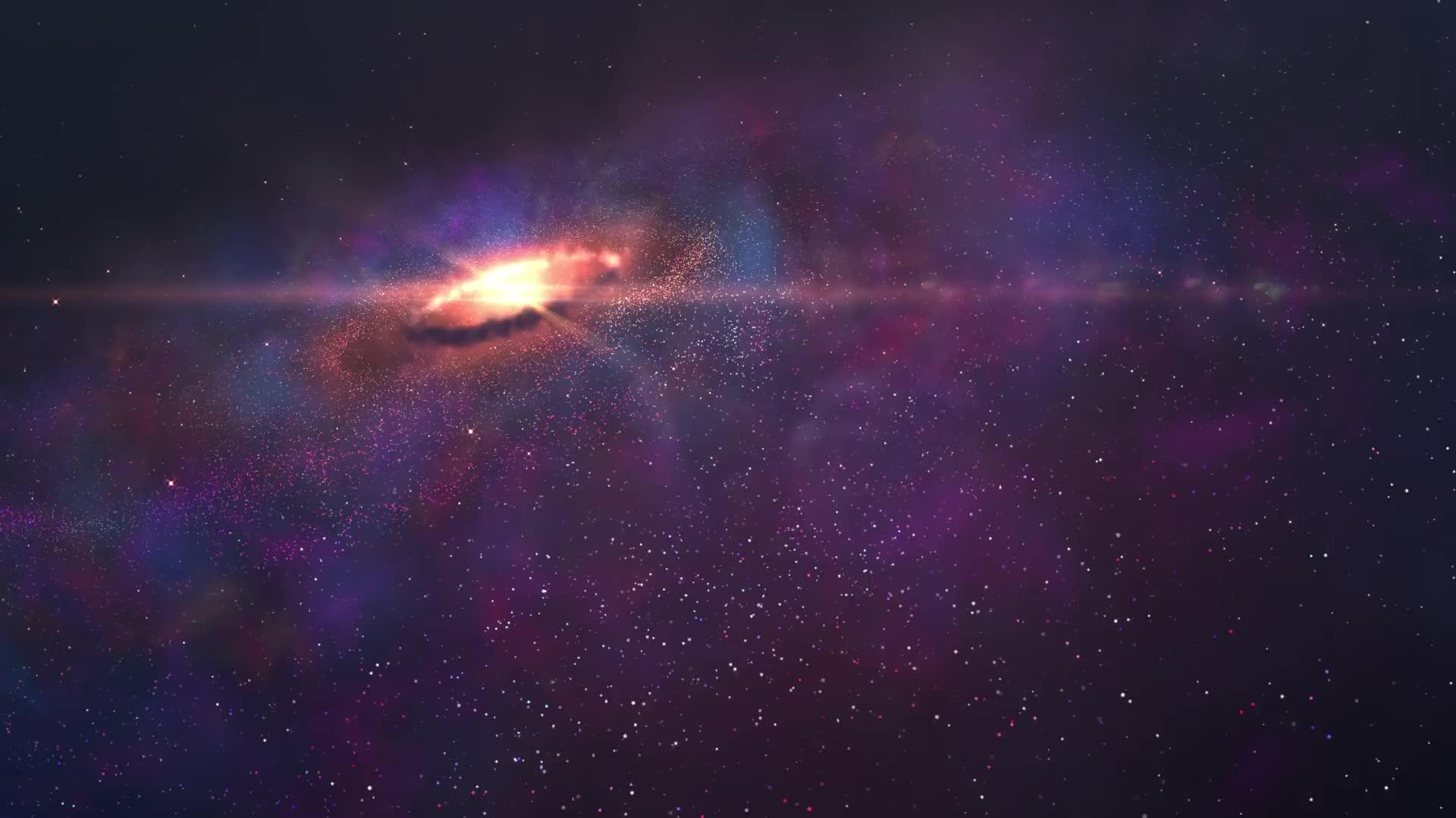 Галактическая спираль - живые обои