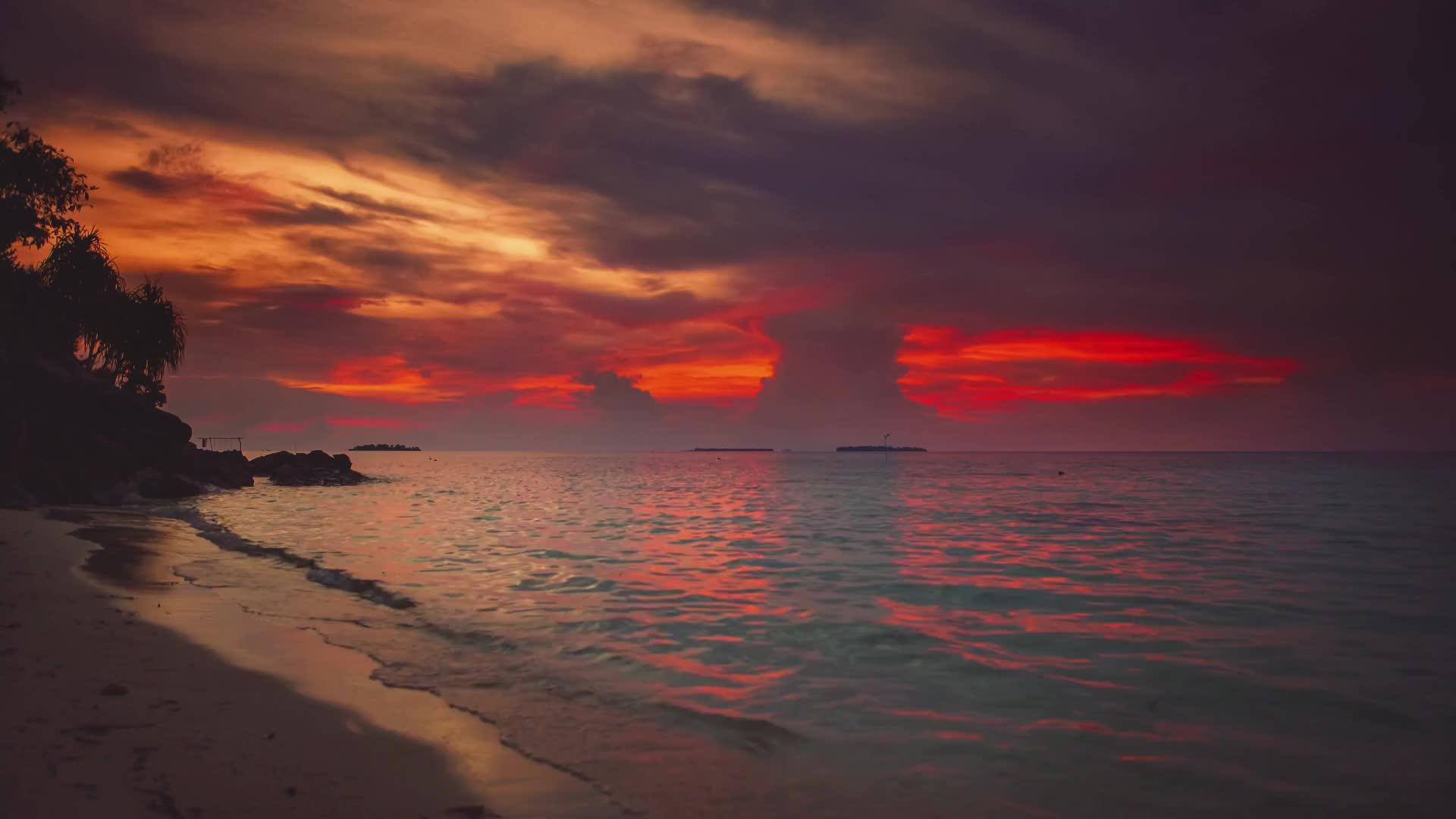 Райский уголок - милый островок - живые обои