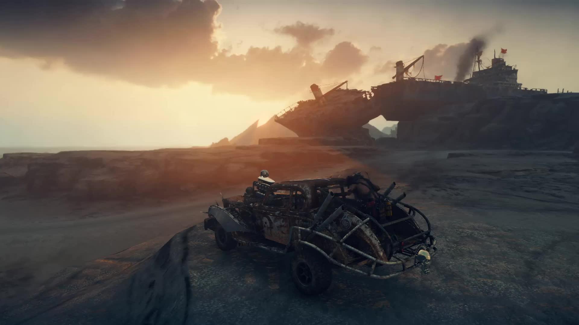 Mad Max кровавый рассвет - живые обои