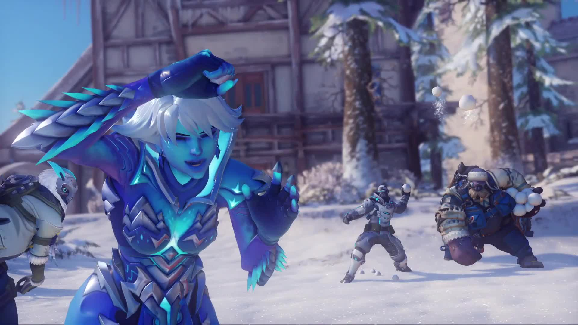 Овервотч Игра в Снежки - живые обои