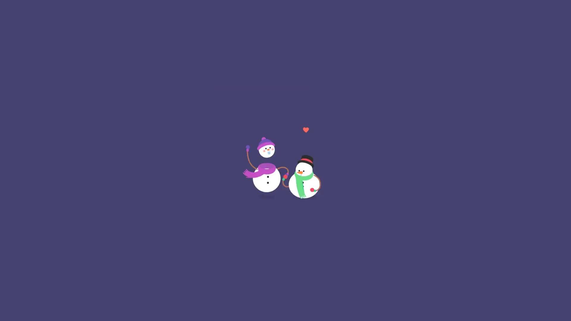 Весёлые Снеговики - живые обои