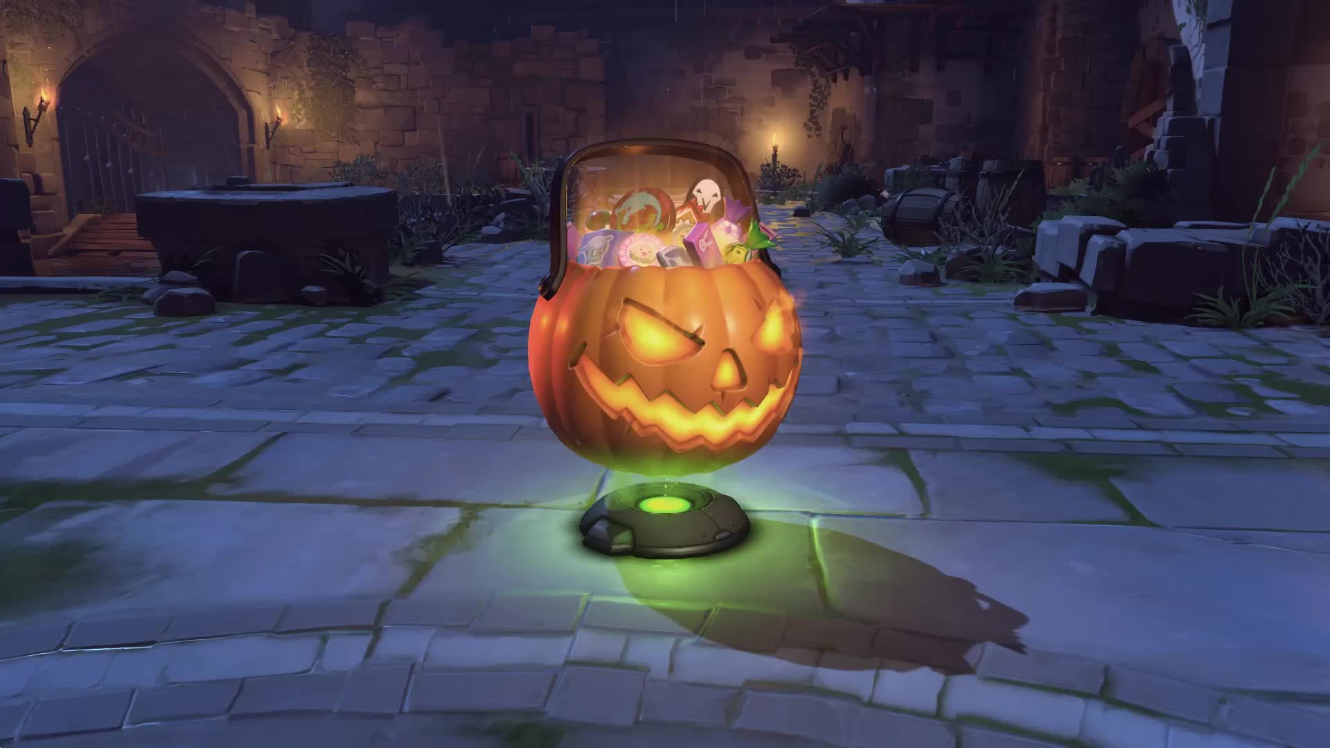 Ужасы на Хеллоуин - Овервотч - живые обои