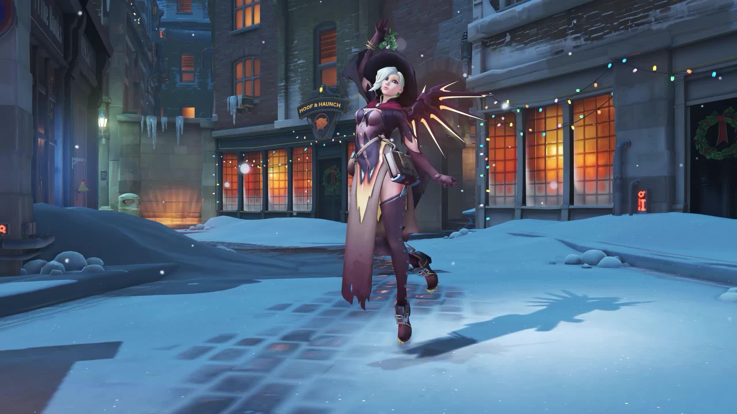 Overwatch Mercy Рождество - живые обои