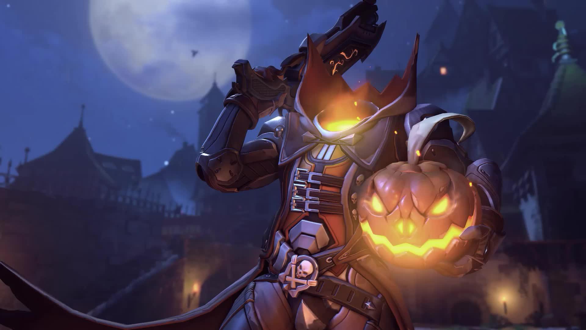 Reaper или Жнец Halloween Overwatch - живые обои