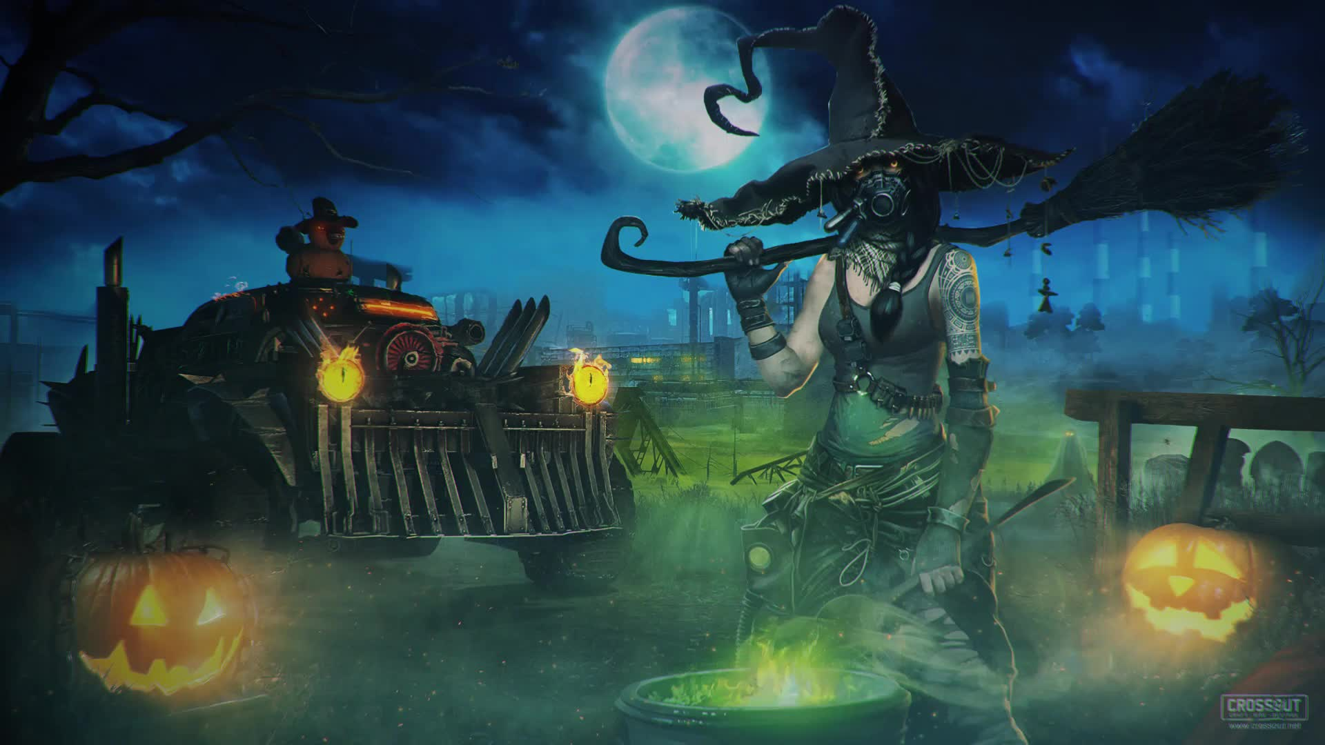 Crossout Хеллоуин интерпретация - живые обои